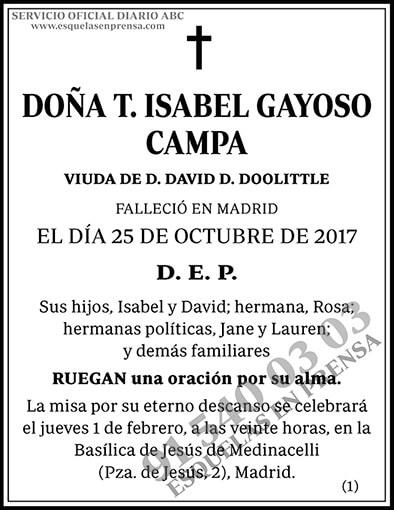 T. Isabel Gayoso Campa